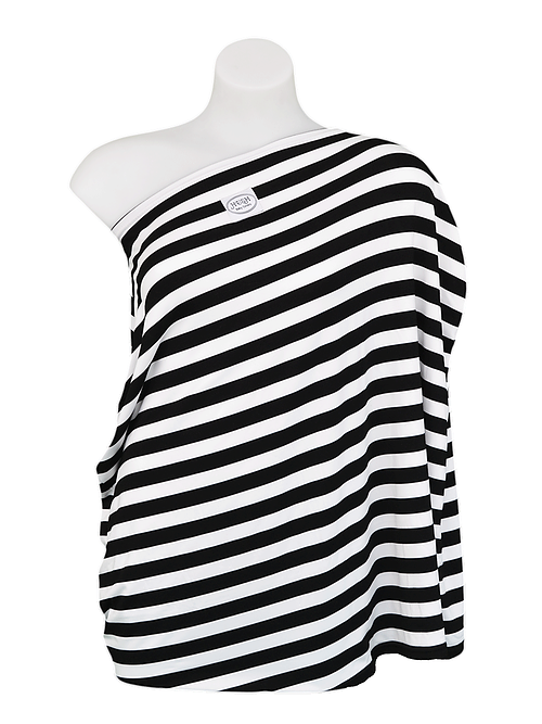 HUSH Baby - All In One Baby Cover (Classic Black Stripe) - Gift for New Mum