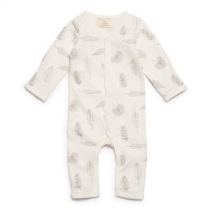 Wilson + Frenchy - 'Tiny Leaf' Long Sleeve Growsuit