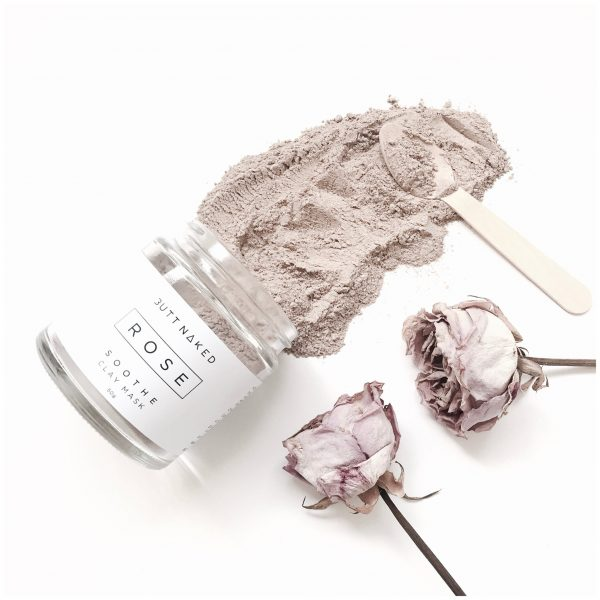Butt Naked Skinfood - 'Rose' Clay Face Mask 50g