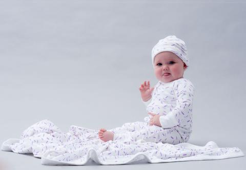 Niovi Organics - Organic Stroller Blanket 'RIZ Lavender'