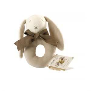 Maud N Lil - Baby Ring Rattle (Organic) – Ears the Bunny