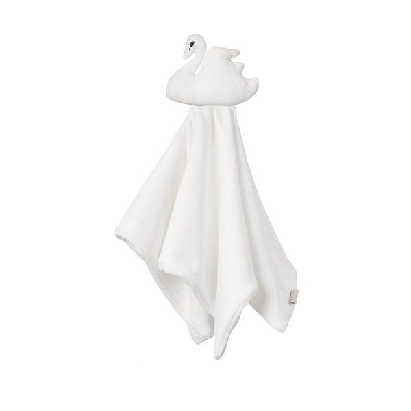 CAM CAM Copenhagen | Swan Cuddle Cloth Muslin Lovey Off White
