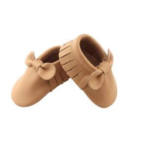 almond bow moccasins