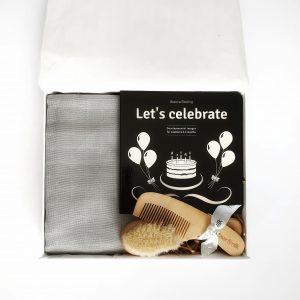 'Let's Celebrate Baby in Grey'