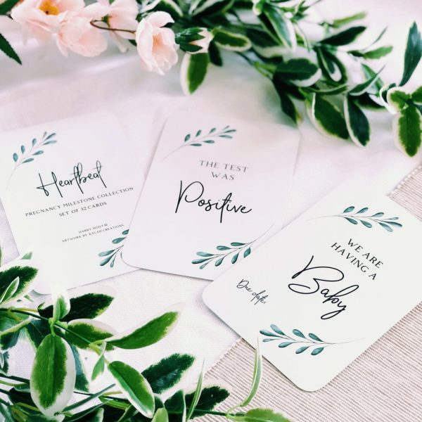 Heartbeat Pregnancy Milestone Cards