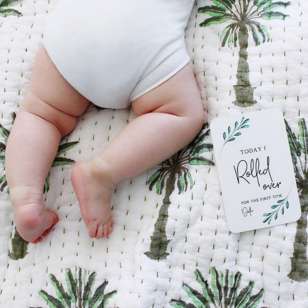 Baby Milestone Cards_Today I Rolled Over_Harry Hoot