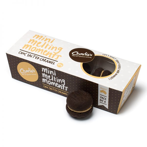 Choc Salted Caramel Mini Melting Moments