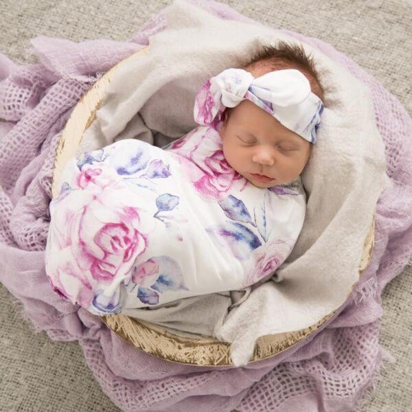 Lilac Skies Headband + Wrap Set
