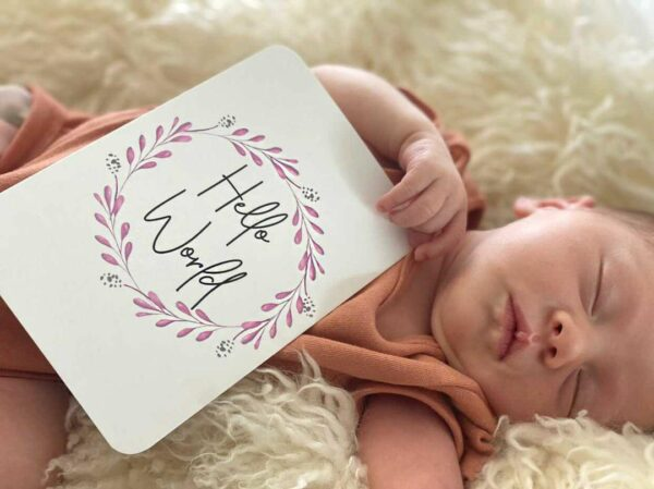 Blossom Baby Milestone Cards