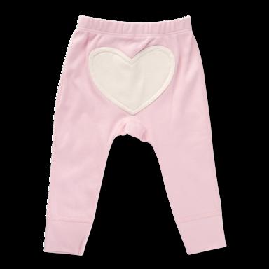 Dusty Pink Heart Pants