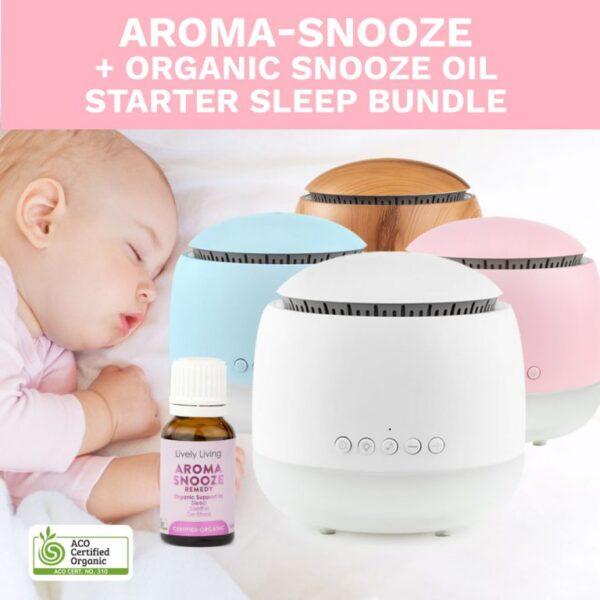 Aroma Snooze + Organic Sleep Oil Starter Bundle